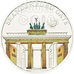 PORTA DI BRANDEBURGO Germania World Of Wonders Moneta Argento 5$ Palau 2012