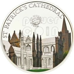 ST PATRICK CATHEDRAL Cattedrale di San Patrizio Irlanda World Of Wonders Moneta Argento 5$ Palau 2012