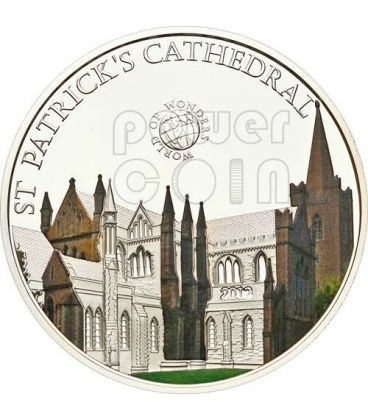 ST PATRICK CATHEDRAL Dublin World Of Wonders 5$ Silver Coin Palau 2012