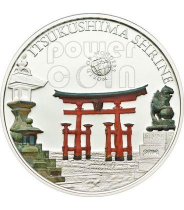 ITSUKUSHIMA SHRINE Santuario Giappone World Of Wonders Moneta Argento 5$ Palau 2012