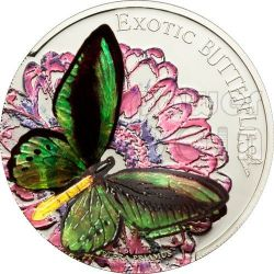 FARFALLA 3D Butterfly Farfalle Esotiche Moneta Argento 5$ Tokelau 2012