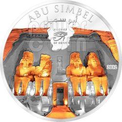 ABU SIMBEL Temple History of Egypt Plata Plated Moneda 1$ Cook Islands 2012
