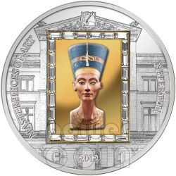 NEFERTITI Nofretete Moneta Argento Oro 20$ Cook Islands 2012