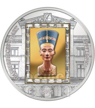 NEFERTITI Nofretete Moneta Argento Oro 20$ Cook Islands 2012
