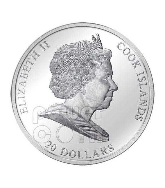 NEFERTITI Nofretete Silber Gold Münze 20$ Cook Islands 2012