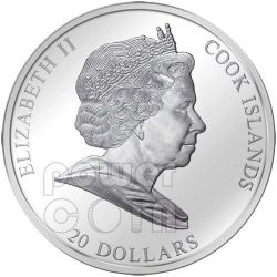 NEFERTITI Nofretete Plata Moneda Oro 20$ Cook Islands 2012