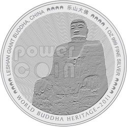 LESHAN GIANT BUDDHA Sichuan China World Heritage Moneda Plata Bhutan 2011
