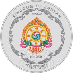 LESHAN GIANT BUDDHA Sichuan China World Heritage Серебро Монета Бутан 2011
