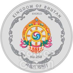 LESHAN GIANT BUDDHA Sichuan China World Heritage Silver Coin Bhutan 2011