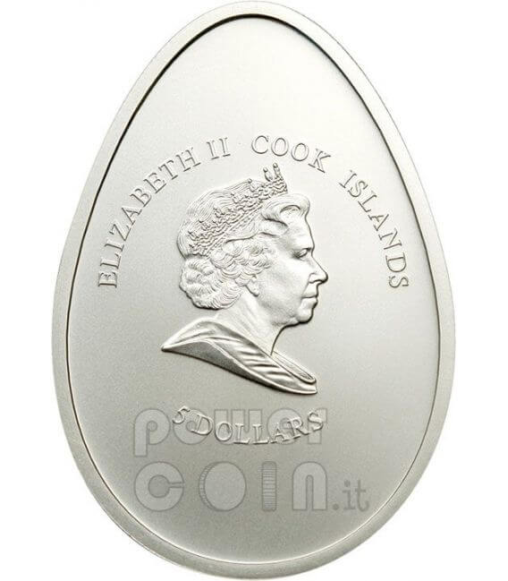 LITTLE THERMO CHICK Moneda Plata 5$ Cook Islands 2009