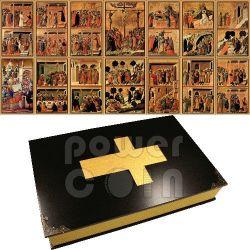 PASSIONE DI CRISTO Duccio Di Buoninsegna Maesta Siena Set 14 Monete Argento 1$ Niue 2012