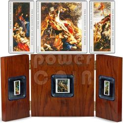 RAISING OF THE CROSS Triptych Peter Paul Rubens 3 Silver Coin Set 1$ 2$ Niue 2012