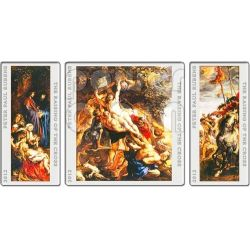RAISING OF THE CROSS Triptych Peter Paul Rubens 3 Moneda Plata Set 1$ 2$ Niue 2012