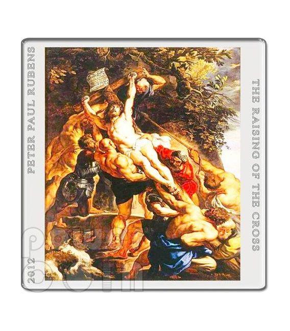 TRITTICO INNALZAMENTO DELLA CROCE Peter Paul Rubens Set 3 Monete Argento 1$ 2$ Niue 2012