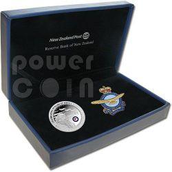RNZAF Royal Air Force 75 Years 1oz Серебро Proof Монета 1$ Новая Зеландия  2012