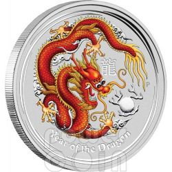 DRAGON Perth ANDA Show Special Edition 2 oz Silver Coin 2$ Australia 2012
