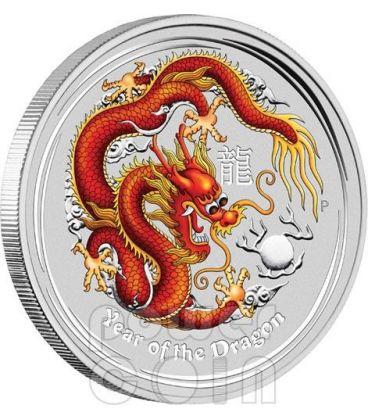 DRAGONE Dragon Perth ANDA Show Special Edition Moneta Argento 2 oz 2$ Australia 2012
