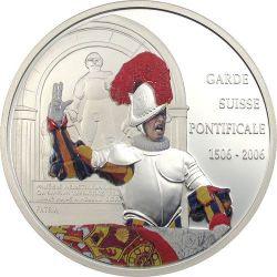 SWISS GUARD Swear 500 Years Papal Серебро Монета 10 Fr Конго 2006