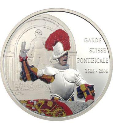 GUARDIA SVIZZERA Giuramento 500 Anni Moneta Argento 10 Fr Congo 2006