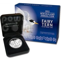 FAIRY TERN Plata Proof Moneda 5$ New Zealand 2012