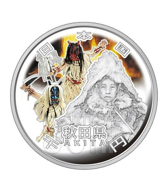 AKITA 47 Prefectures (19) Silver Proof Coin 1000 Yen Japan Mint 2011