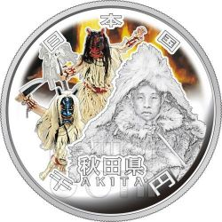 AKITA 47 Prefectures (19) Silber Proof Münze 1000 Yen Japan 2011