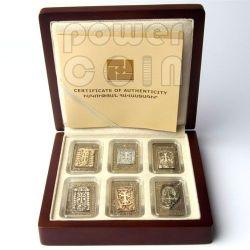 CROSS STONES Khachkar Marble Insert 6 Silber Münze Set 1000 Dram Armenia 2011