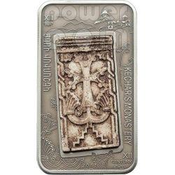 CROSS STONES Khachkar Marble Insert 6 Moneda Plata Set 1000 Dram Armenia 2011