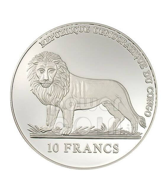 SWISS GUARD Swear 500 Years Papal Silver Coin 10 Fr Congo 2006