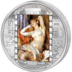 RENOIR Pierre Auguste The Sleeping Bather 3 Oz Moneta Argento 20$ Cook Islands 2012