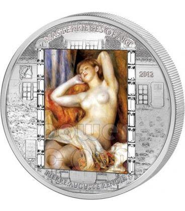 RENOIR Pierre Auguste The Sleeping Bather 3 Oz Silver Coin 20$ Cook Islands 2012