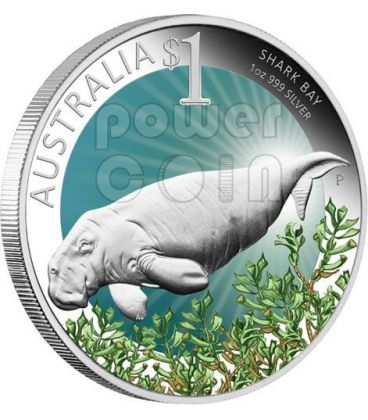 SHARK BAY Celebrate Australia Perth ANDA Moneta Argento Proof 1$ 2012