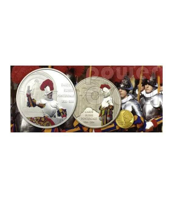 SWISS GUARD Swear 500 Years Papal Moneda Plata 10 Fr Congo 2006