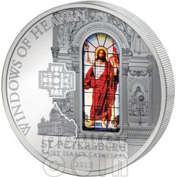 WINDOWS OF HEAVEN ST PETERSBURG Saint Isaac Cathedral Silver Coin 10$ Cook Islands 2012