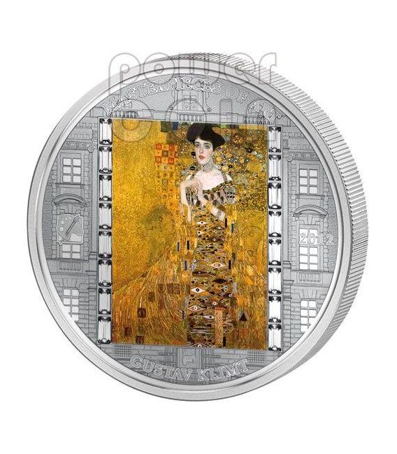 KLIMT Gustav Adele 3 Oz Silver Coin 20$ Cook Islands 2012