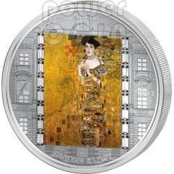KLIMT Gustav Adele 3 Oz Silver Coin 20$ Cook Islands 2012