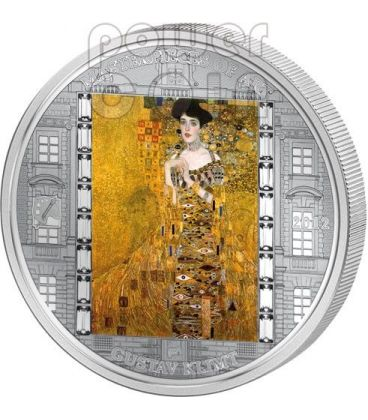 KLIMT Gustav Adele 3 Oz Moneta Argento 20$ Cook Islands 2012