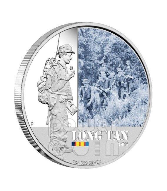 LONG TAN BATTAGLIE FAMOSE 1966 Moneta Argento 1$ Australia 2012