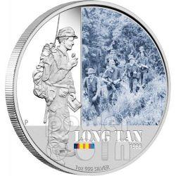 LONG TAN FAMOUS BATTLES 1966 Silver Coin 1$ Australia 2012