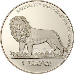 SWISS GUARD Loggia 500 Years Papal Монета 5 Fr Конго 2006