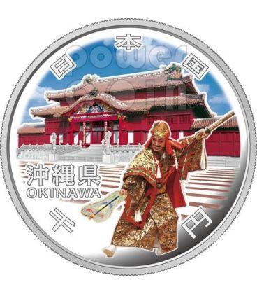 OKINAWA 47 Prefetture (20) Moneta Argento 1000 Yen Giappone 2012