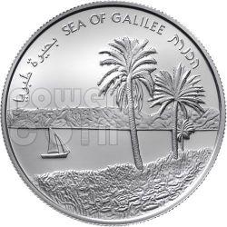 THE SEA OF GALILEE Tiberias 64th Anniversary Plata Proof Moneda 2 NIS Israel 2012