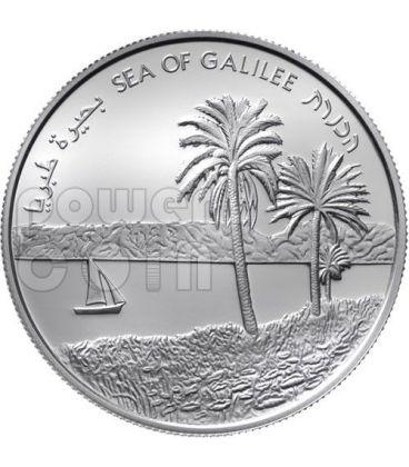 MARE DI GALILEA Tiberiade 64 Anniversario Moneta Argento Proof 2 NIS Israele 2012