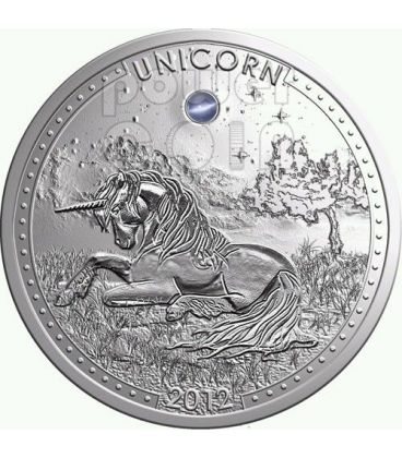 UNICORN Series Opal Gemstone Silver Coin 1000 Francs Cameroon 2012