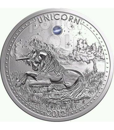 UNICORNO Unicorn Series Opale Moneta Argento 1000 Franchi Camerun 2012