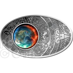 APOCALYPSE Maya Calendar Prophecy Silver Coin 10$ Fiji 2012