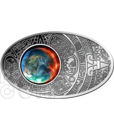 APOCALISSE Profezia Calendario Maya Apocalypse Moneta Argento 10$ Fiji 2012