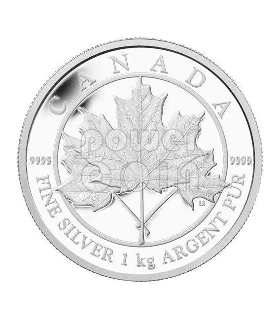Maple Leaf Forever 1 Kg Kilo Fine Silver Kilogram Coin 250
