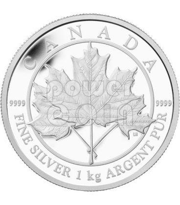 MAPLE LEAF FOREVER 1 Kg Kilo Fine Silver Kilogram Coin 250$ Canada 2012