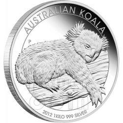 KOALA AUSTRALIANO Moneta Argento Proof 1 Kg Kilo 30$ Australia 2012